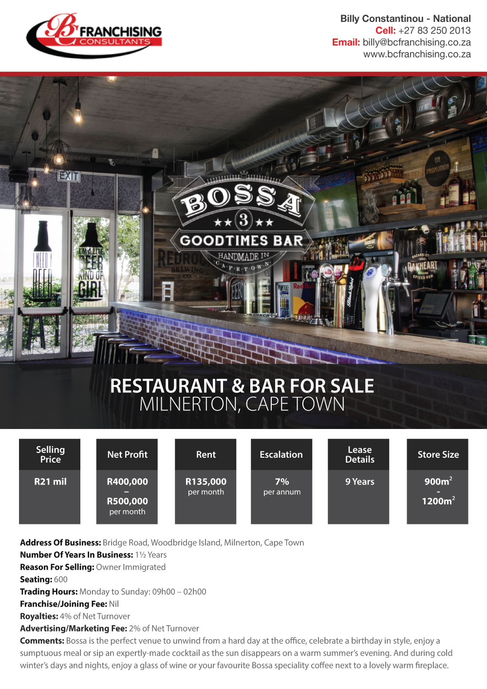 BOSSA GOODTIMES BAR MILNERTON - SOCIAL MEDIA AD